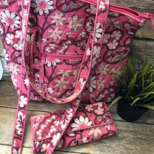 Vera Bradley Retired Blush Pink IconicTote Wallet